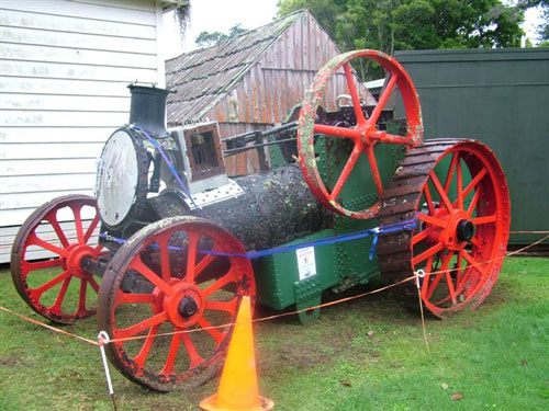 A static engine that had to be deaccessioned because it had little significance to the Museum or district and had turned into an OSH hazard due to its deterioration.