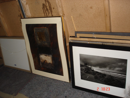 Damaged framed artwork. Photo courtesy of Te Rūnanga o Ngāi Tahu.